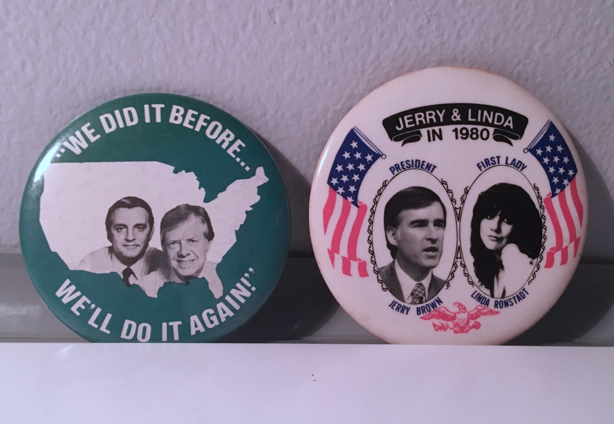 two 1980 Democratic Presidential campaign buttons