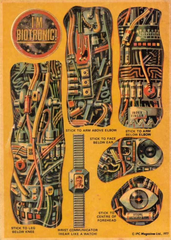 Biotronic Man Stickers