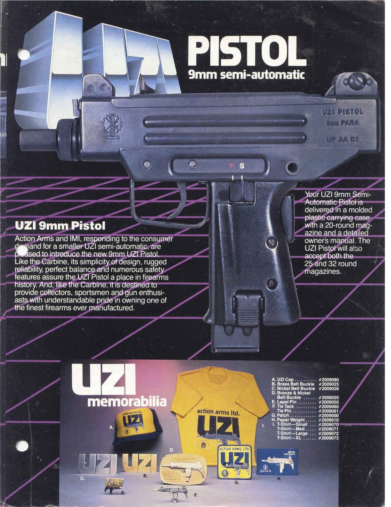 Uzi advertisement from 1986 : outrun