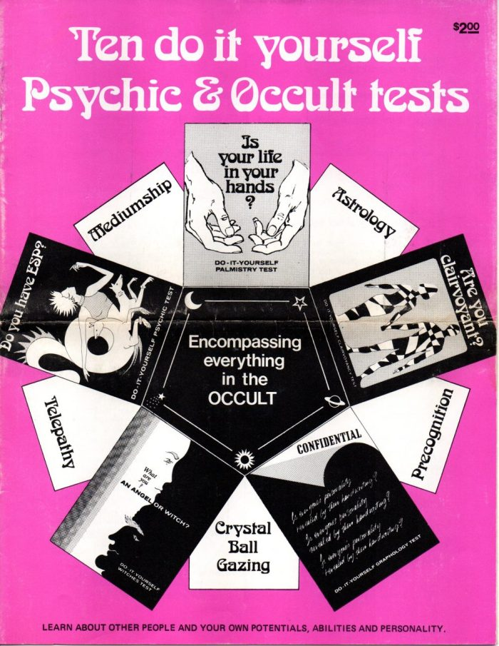 Ten Do It Yourself Psychic & Occult Tests', 1972