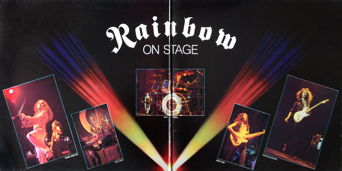 rainbow on stage inner gatefold 1977