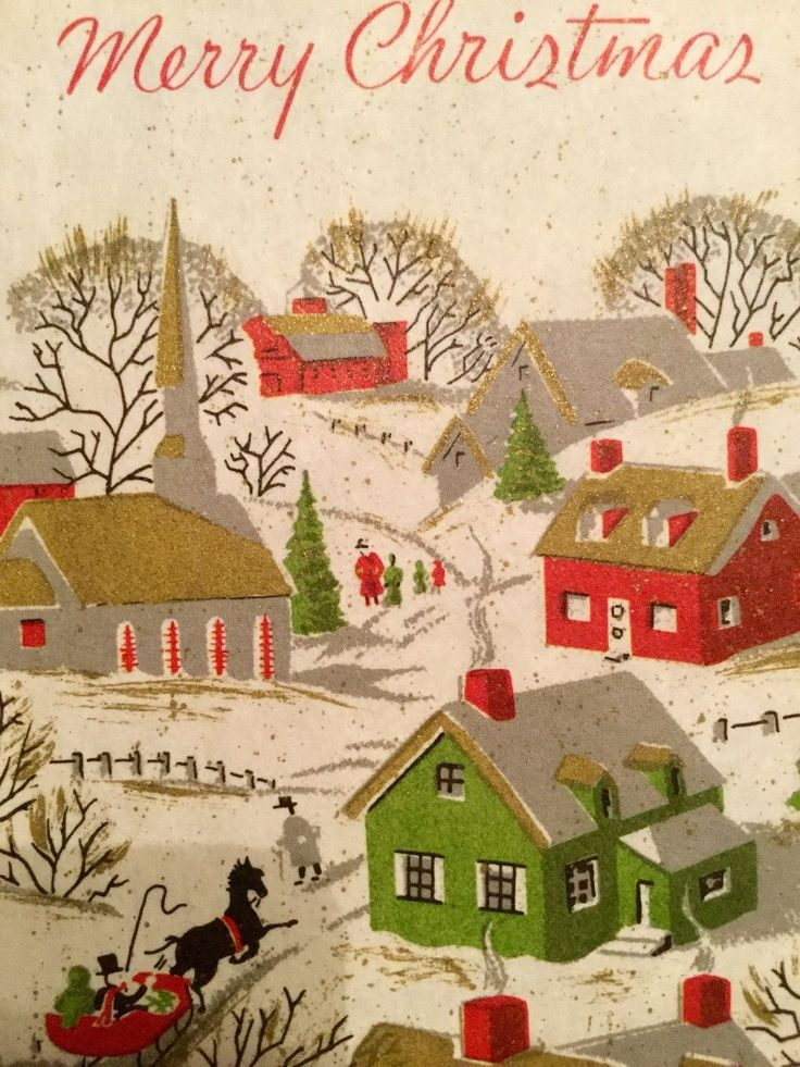 Christmas Greeting Cards, 1950 – 1980