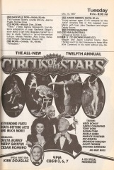 The Circus of the Stars was a network tradition like the Battle of the Network Stars, allowing viewers to watch their favorite TV actors putting themselves in physical danger.