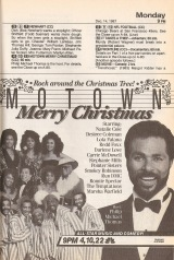 NBC features a Motown Merry Christmas with Miami Vice's Philip Michael Thomas, himself a sometime musician, as host.
