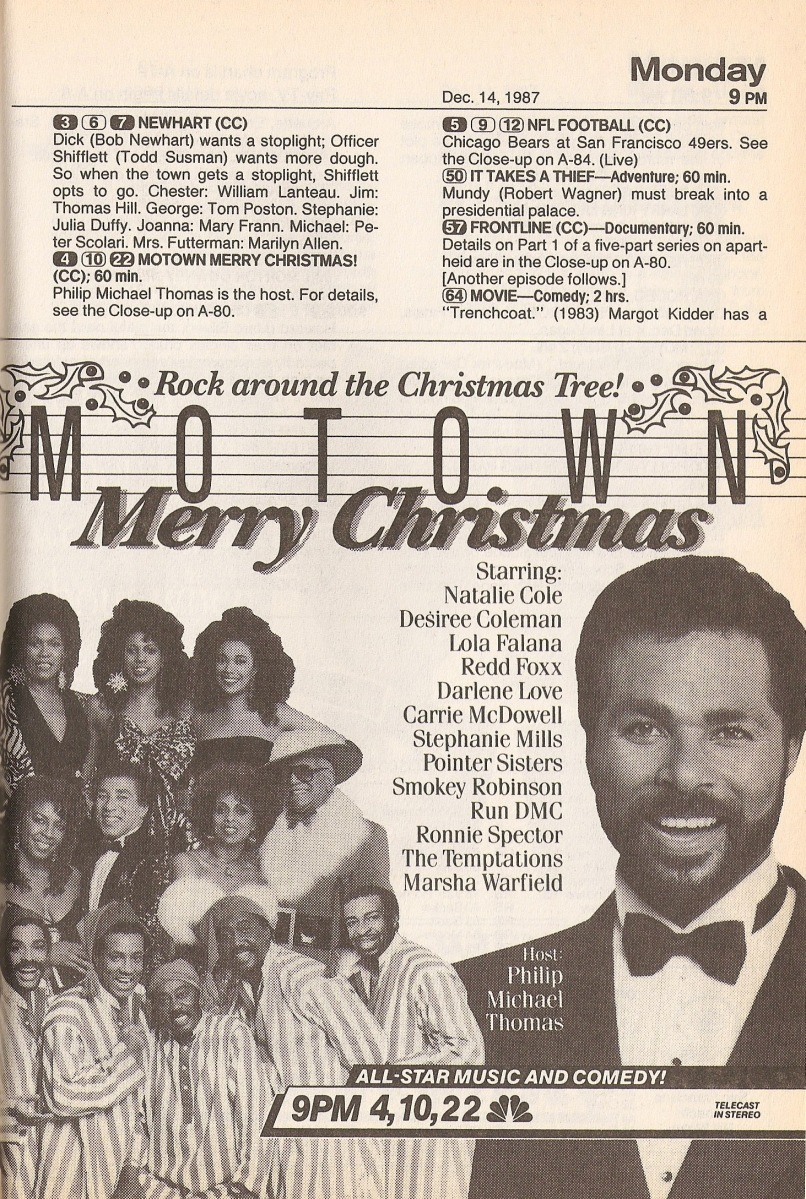 tv guide motown merry christmas 1987