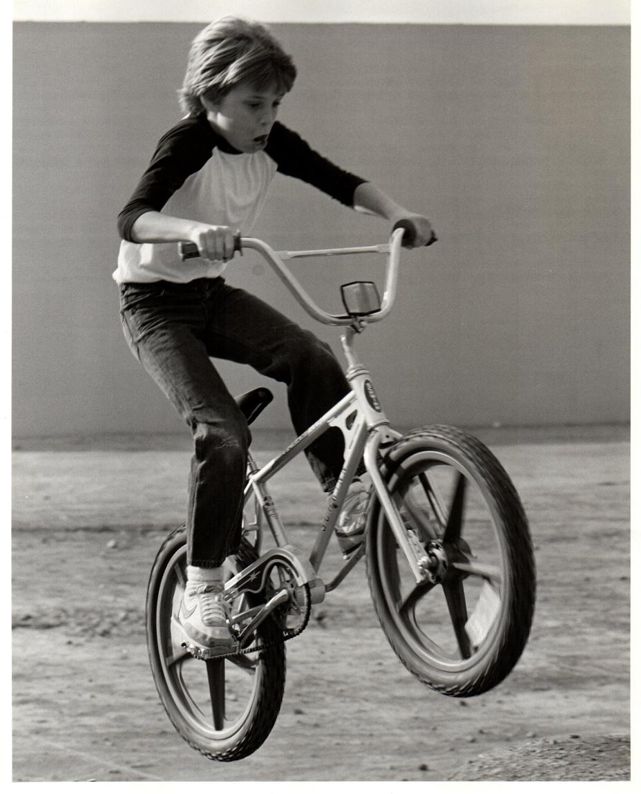 4cffee4a3fe Roberts getting some sick (6-inch) air on his beloved Schwinn Scrambler,  circa 1981