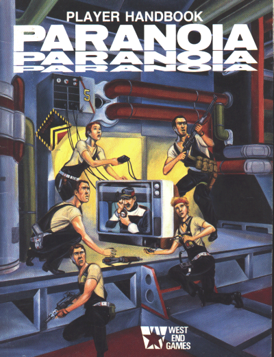 paranoia 1st edition player handbook cover 1984