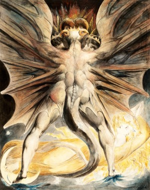 william blake red dragon and woman clothed in sun
