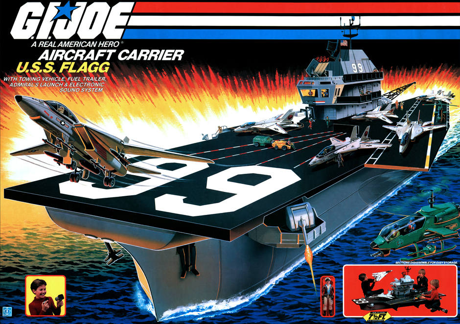 uss flagg box art 1985