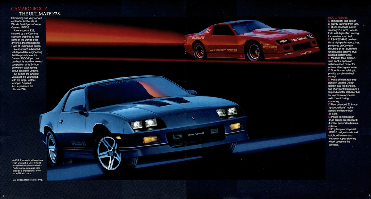 Heartbeat of America: The Chevy Camaro IROC-Z, 1985 – 1990