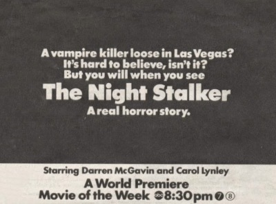 the night stalker tv guide ad 1972